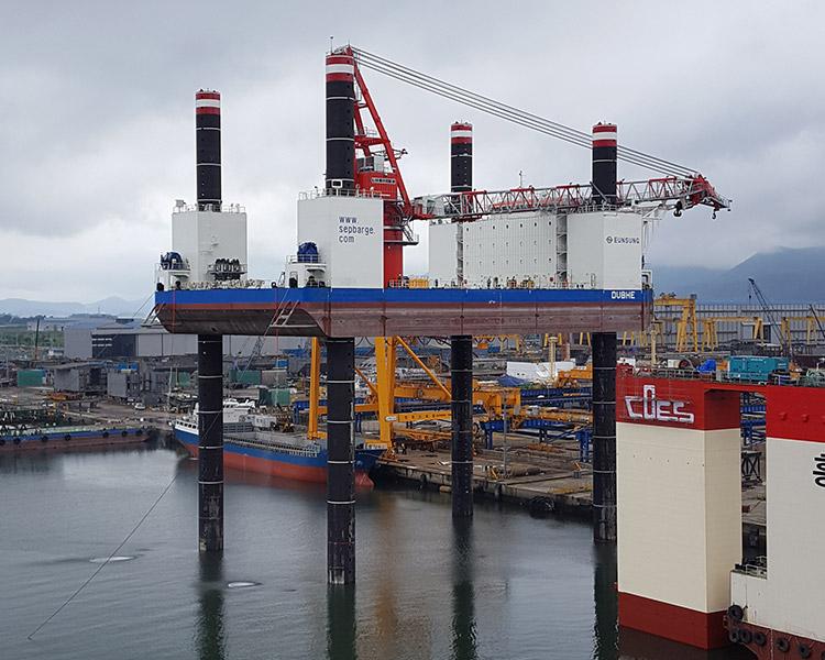 Jack Up Barge Amp Jacking System Maritime Equipment