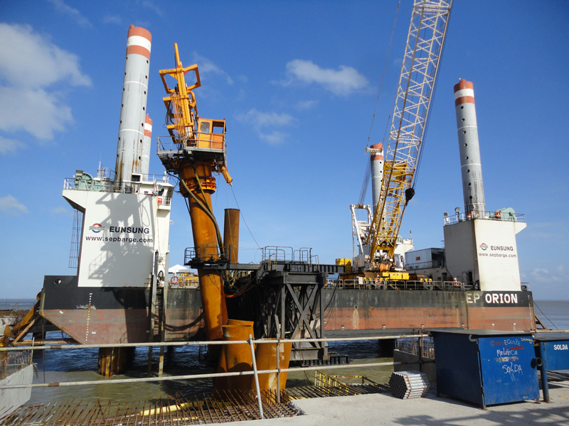 Pile Guide Frame - Maritime Equipment - PRODUCTS - SamBo CMC ...
